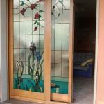 porta in legno a scorrimento traslante